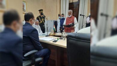Photo of جیتن رام مانجھی بنے پروٹیم اسپیکر، گورنر نے دلایا حلف