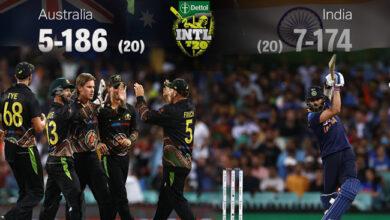 Photo of انڈیا بمقابلہ آسٹریلیا: کلین سوئپ کا خواب چکنا چور، آخری ٹی-20 میں انڈیا کی شکست