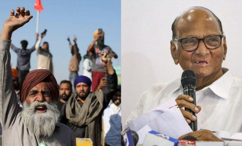SHarad Pawar in Farmer Protest