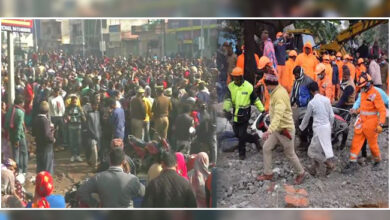 Photo of شمشان گھاٹ حادثہ: 3 افسر گرفتار، روڈ پر لاشیں رکھ کر اہل خانہ کا ہنگامہ