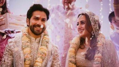 Photo of ورون دھون اور نتاشا کا 2 فروری کو استقبالیہ ہونا ، شادی کی تصویر وائرل ہوگئی