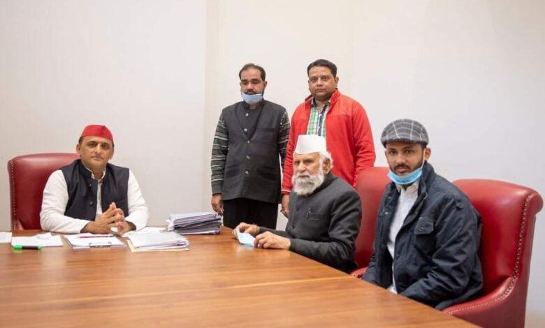 Samajwadi Party with Farmers Dr Barak