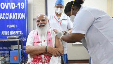 Photo of کورونا ویکسینیشن: وزیر اعظم مودی نے ایمس میں کورونا ویکسین لگائی