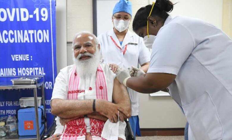 PM Modi Vaccinated